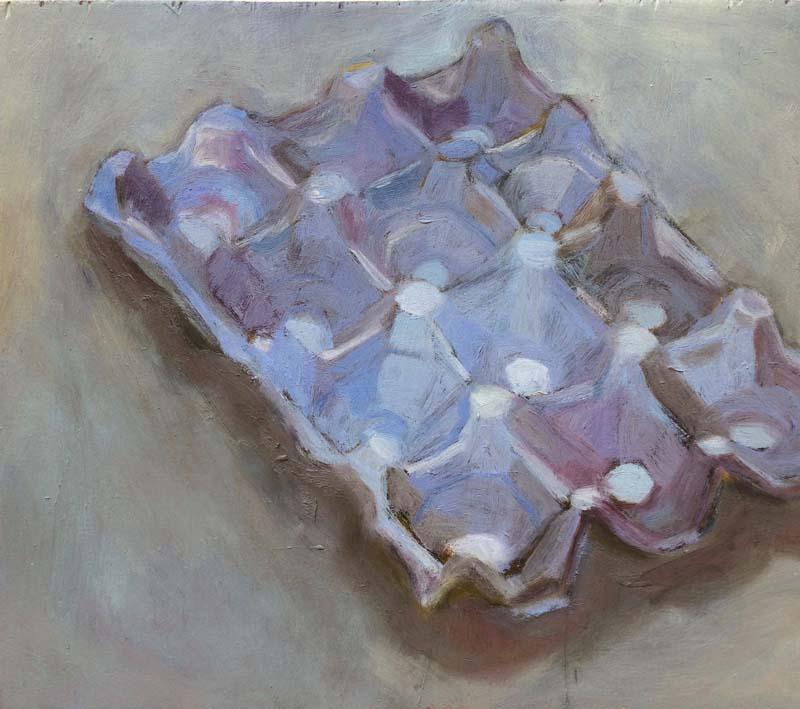 Caixa de ovos – óleo – roxa