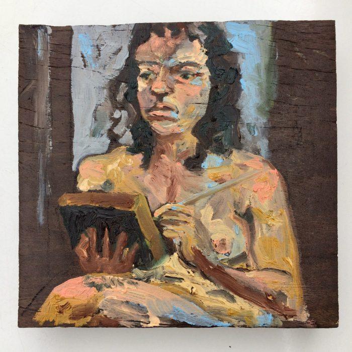 autorretrato – óleo s painel de madeira